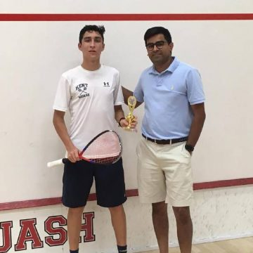 Dos títulos en squash gana joven tricolor.