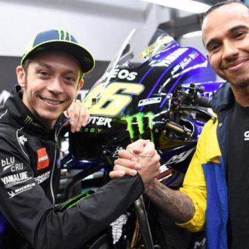 """Hamilton, """"emocionado"""" ante su reto con Rossi: """"Será un verdadero honor"""""""