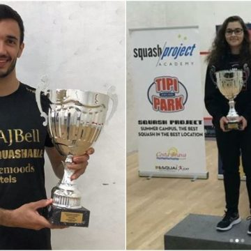 Iker Pajares y Cristina Gómez se coronan como campeones de España de squash