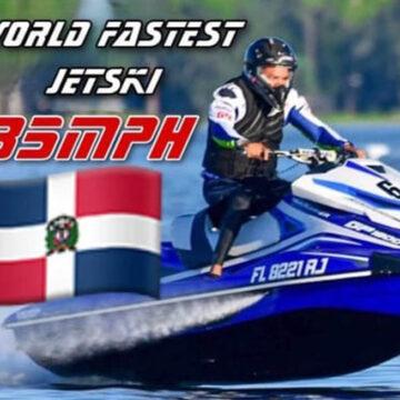 Dominicano logra récord de Jet Ski más rápido del mundo