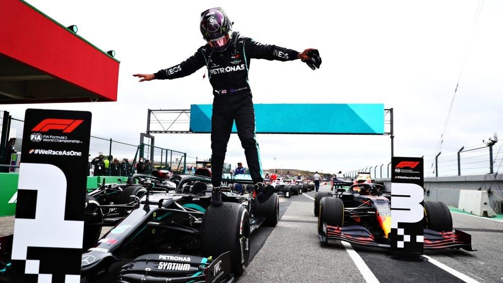 Hamilton impone récord de más victorias con 92da en el F1 de Portugal