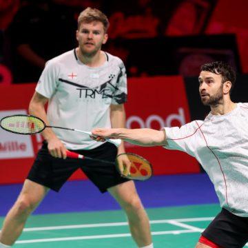 Doblistas ingleses EllisyLangridge; y japonesas Fukushima e Hirota avanzan a la final del Badminton Danisa Denmark Open 2020