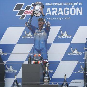 Alex Rins gana MotoGP de Aragón