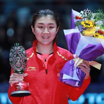 Chen Meng se corona campeona del mundo en Tenis de Mesa en Dishang