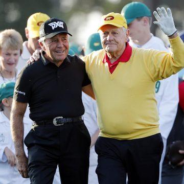 Galácticos  Jack Nicklaus y  Gary Player subastarán prendas de salida en Golf de Augusta